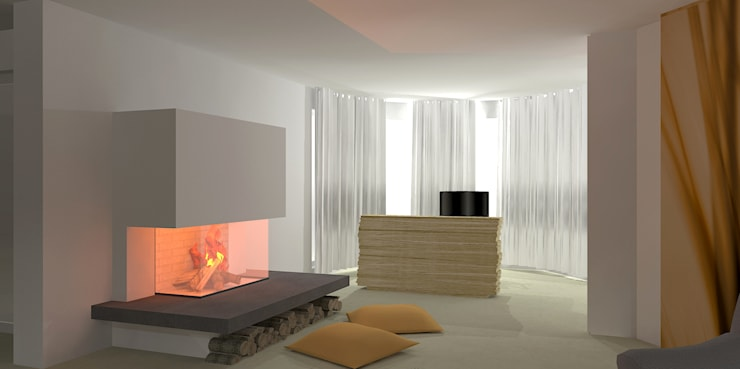 Living room by Innenarchitektur  Schucker & Krumm