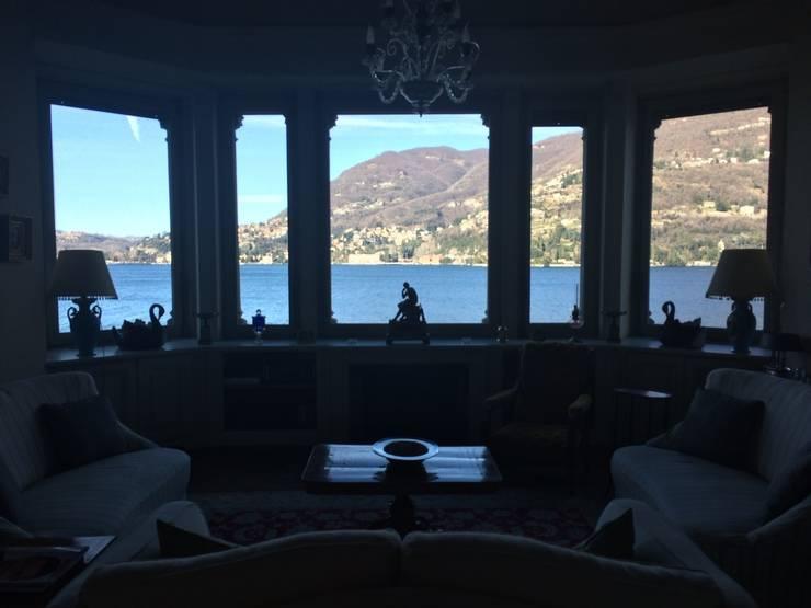 Villa Taglioni – Blevio Lago di Como Soggiorno classico di Archiluc's - Studio di Architettura Stefano Lucini Architetto Classico