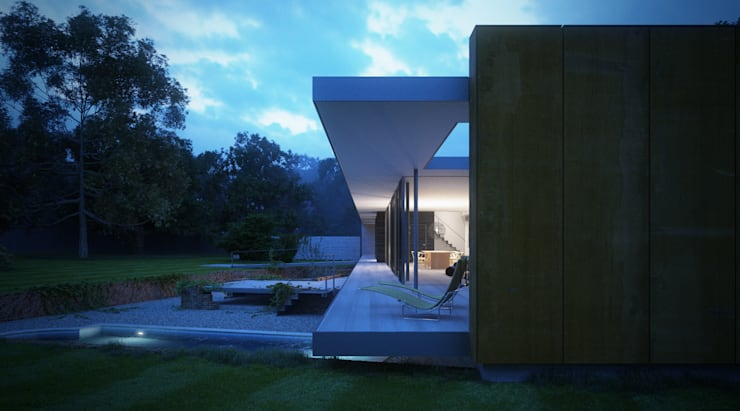 Private House, Suffolk:  Terrace by Strom Architects