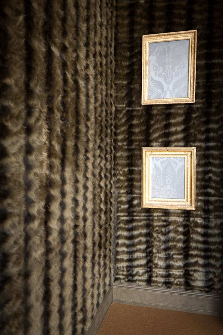 Fabric walling :  Living room by Mille Couleurs London
