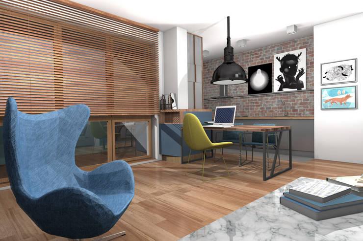 Projekt mieszkanie 57m2 Żoliborz: styl , w kategorii  zaprojektowany przez Pracownia Silvergrey