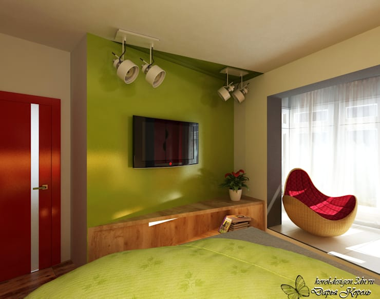 Apartment A brave people: Спальни в . Автор – Your royal design