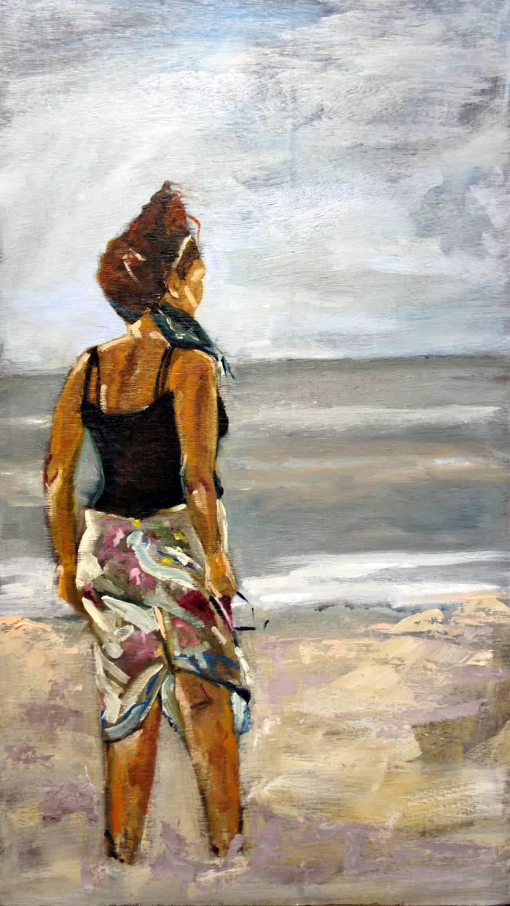 lady on the beach:   door leida blom, Klassiek