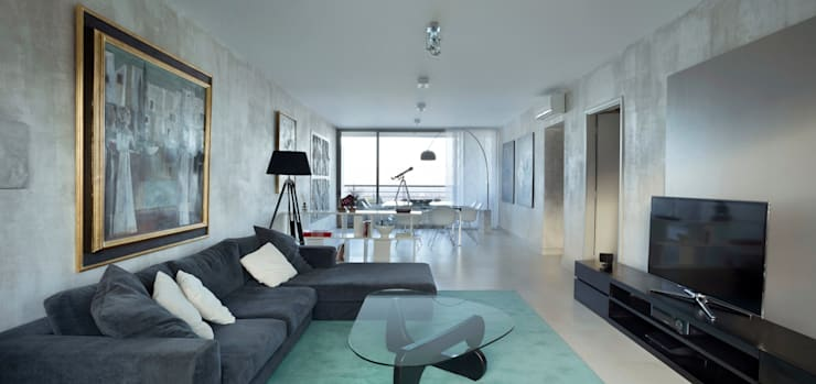 Departamento en Pedemonte: Livings de estilo  por Cohen - Reig Arquitectura & Interiorismo,Moderno