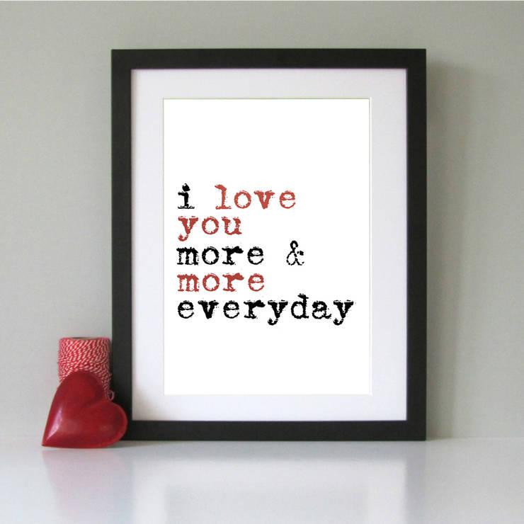 I love you modern art print:  Artwork by Always Sparkle