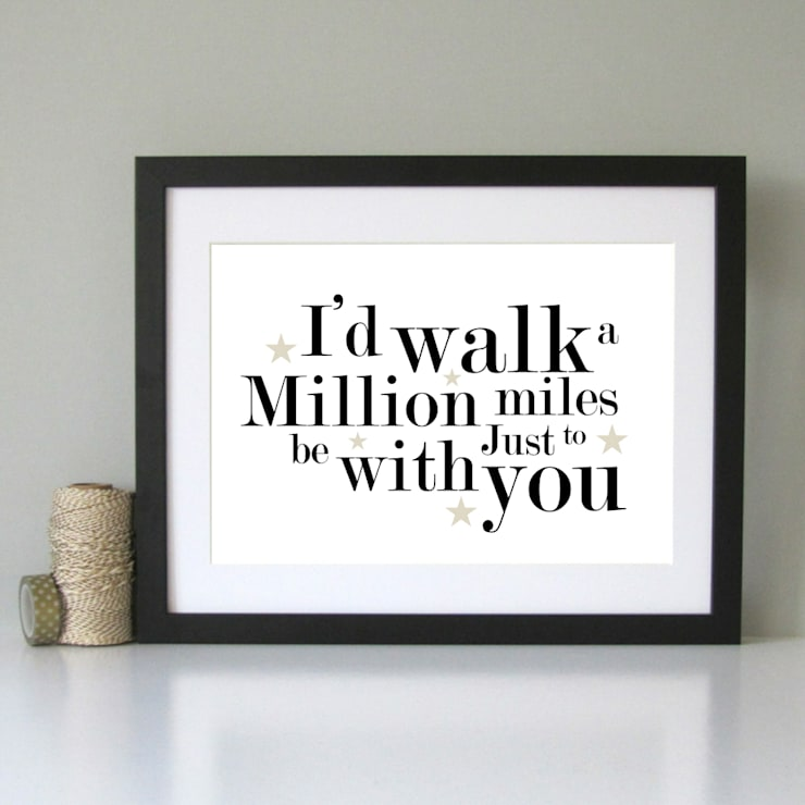 Romantic art print black and gold:  Artwork by Always Sparkle