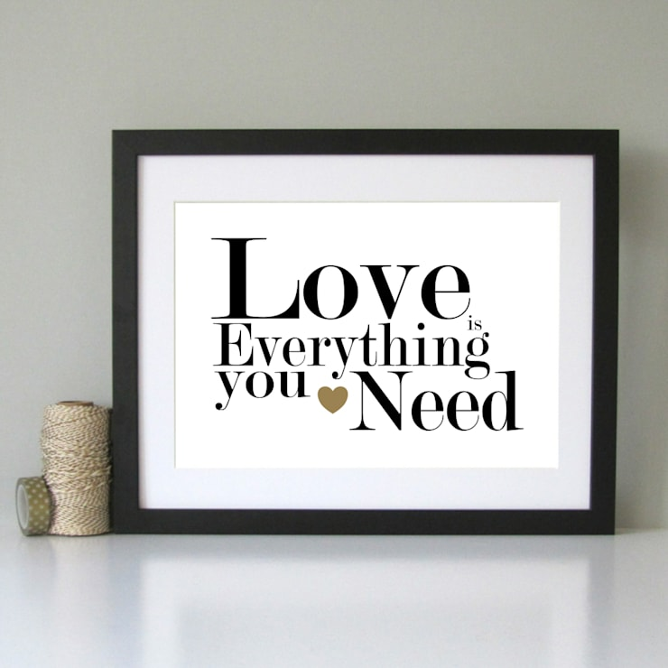Love is.. romantic art print:  Artwork by Always Sparkle