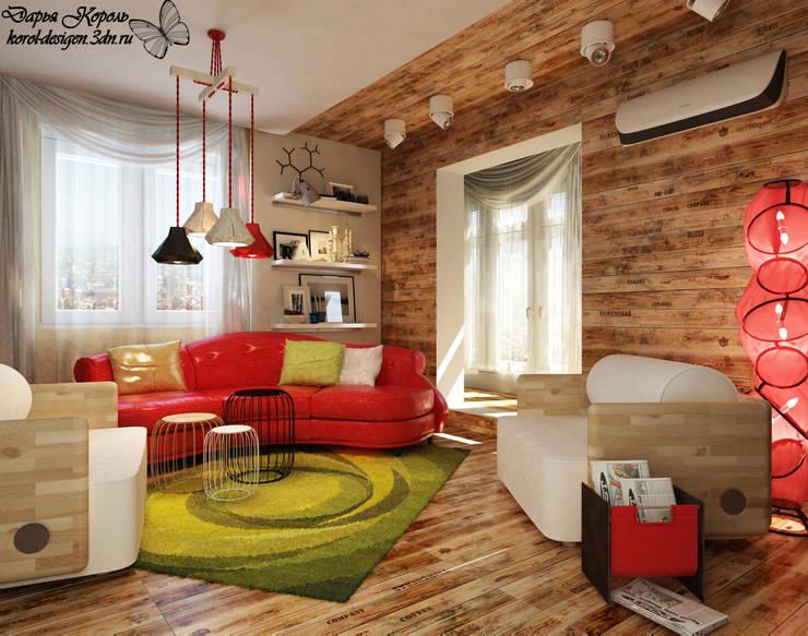 Apartment A brave people: Гостиная в . Автор – Your royal design