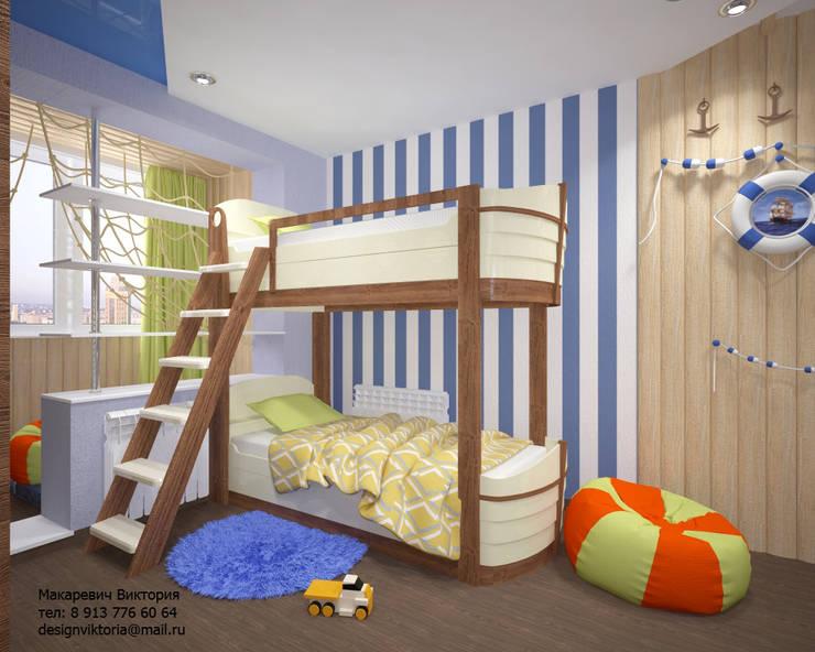 Детская для двух мальчиков в морском стиле: Детские комнаты в . Автор – Студия дизайна Виктории Силаевой, Средиземноморский