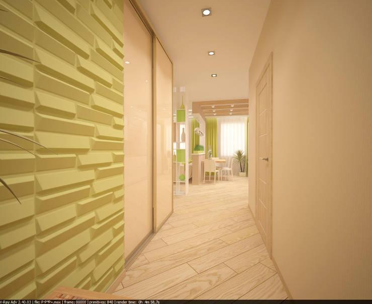 Квартира 70 кв.м. в ЖК <q>Оазис</q> : Коридор и прихожая в . Автор – Студия дизайна Виктории Силаевой