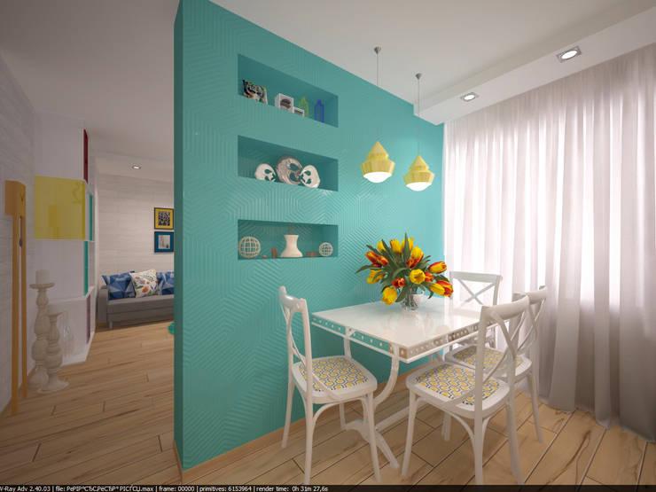 Квартира 45 кв.м. в Скандинавском стиле.: Кухни в . Автор – Студия дизайна Виктории Силаевой, Скандинавский