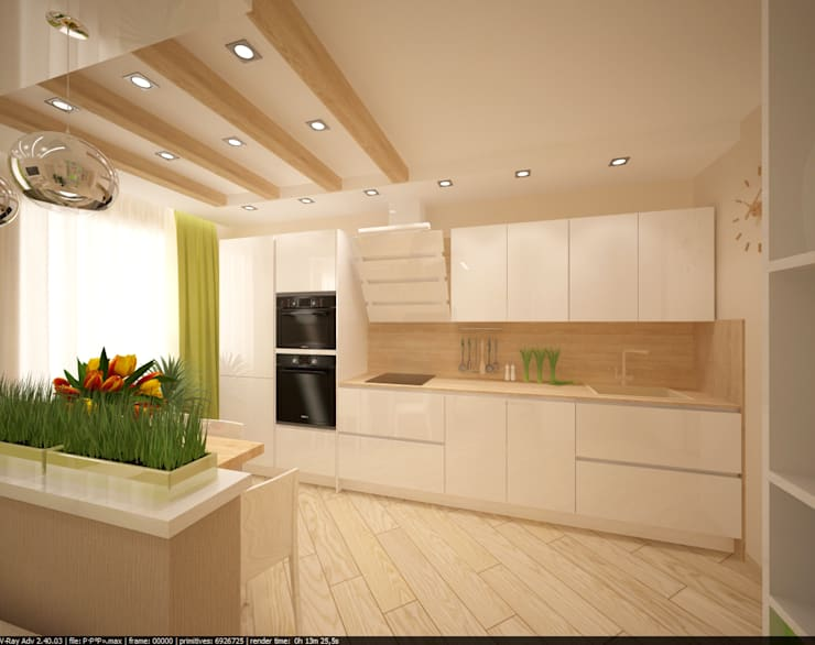 Квартира 70 кв.м. в ЖК <q>Оазис</q> : Кухни в . Автор – Студия дизайна Виктории Силаевой