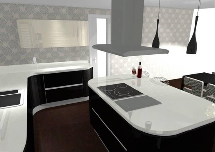 diseño de cocinas con Arrital y Doimo: Cocinas de estilo  de noe vega interiorismo