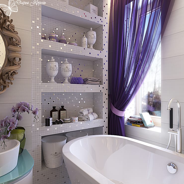 Bathroom in the bedroom <q>Provence</q>: Ванные комнаты в . Автор – Your royal design