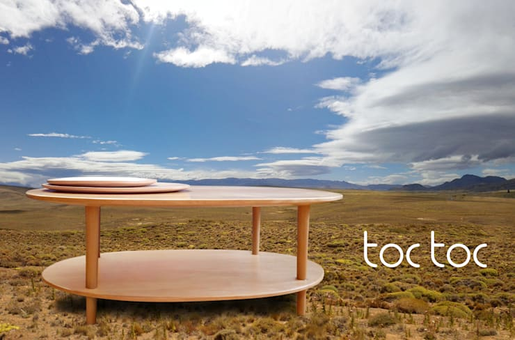 MESA NUBE LENTICULAR: Livings de estilo  por TocToc - Muebles y Objetos Argentinos