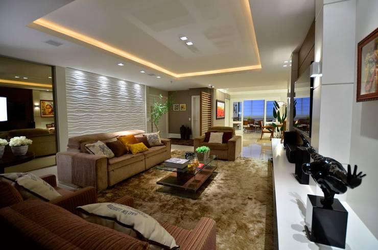 APTO MODERNO : Salas de estar  por LizRibeiro Arquitetura