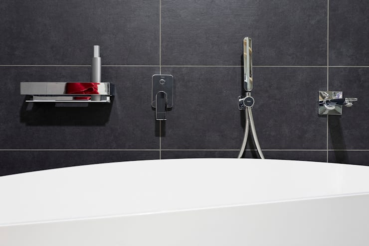 łazienka, detal: styl , w kategorii Łazienka zaprojektowany przez Jacek Tryc-wnętrza,Minimalistyczny