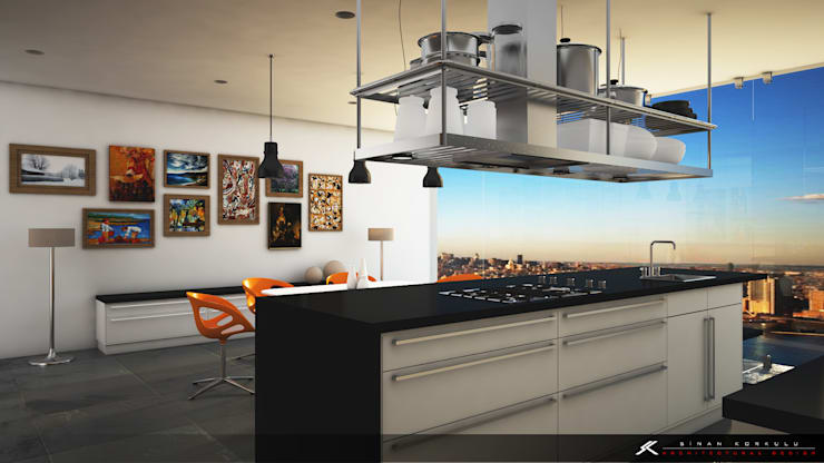 SK ARCHITECTURAL VISUALIZATION – Mutfak (Kitchen):  tarz Mutfak