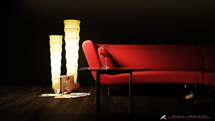 SK ARCHITECTURAL VISUALIZATION – Some Vine: modern tarz Oturma Odası