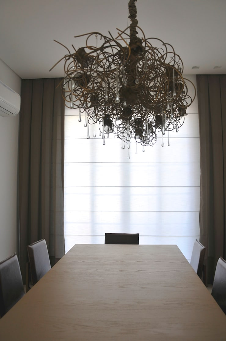 Casa Alto da Boa Vista: Salas de jantar  por Renata Amado Arquitetura de Interiores