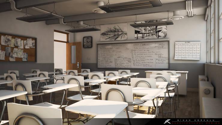 SK ARCHITECTURAL VISUALIZATION – Sınıf (Classroom):  tarz Okullar