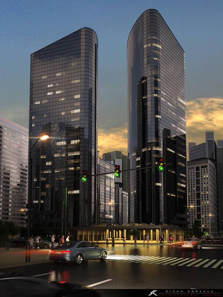 SK ARCHITECTURAL VISUALIZATION – Gökdelen (Skyscrappers):  tarz Evler