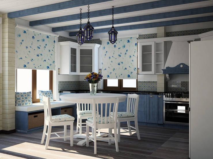 Кухня : Кухни в . Автор –  Лойе Ирина, Эклектичный