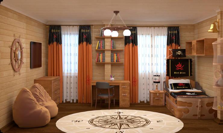 Детская спальня в пиратском стиле: Детские комнаты в . Автор –  Лойе Ирина, Эклектичный