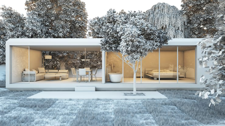 SK ARCHITECTURAL VISUALIZATION – Orman Evi (Forest House): modern tarz Evler