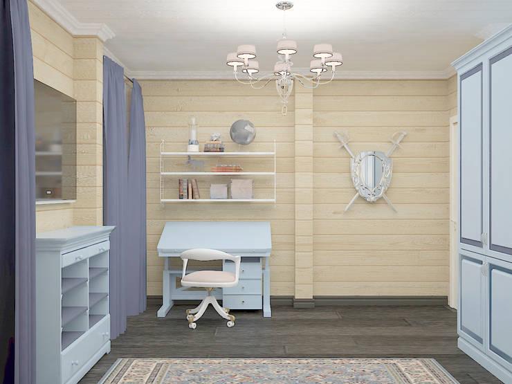 Современный мягкий стиль : Детские комнаты в . Автор –  Лойе Ирина, Эклектичный