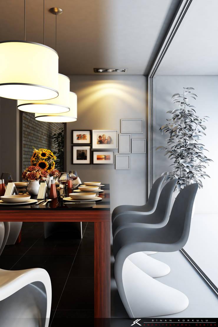 SK ARCHITECTURAL VISUALIZATION – Yemek Odası (Dinning Room):  tarz Yemek Odası