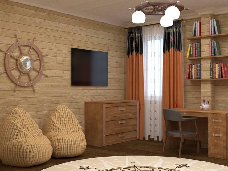 Детская спальня в пиратском стиле  : Детские комнаты в . Автор –  Лойе Ирина, Эклектичный