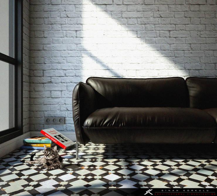 SK ARCHITECTURAL VISUALIZATION – Minimalist :  tarz Oturma Odası