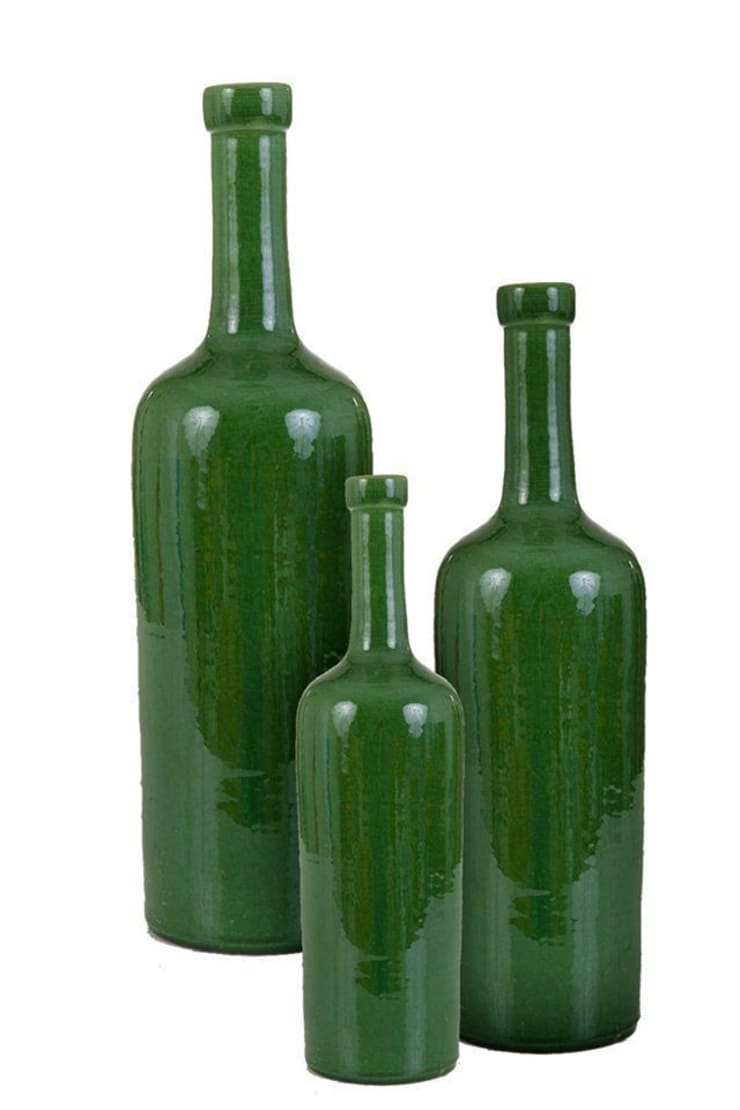Classic Bottle Set, Glazed :  Living room by Earth and Fire Lab