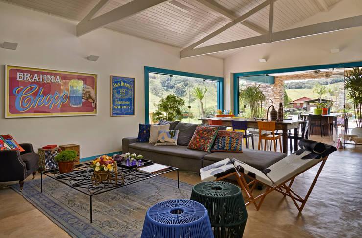 Salon de style de style Rustique par Beth Marquez Interiores