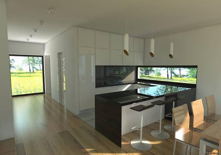 Dom w Mysłowicach: styl , w kategorii Kuchnia zaprojektowany przez AWX2 ARCHITEKCI,