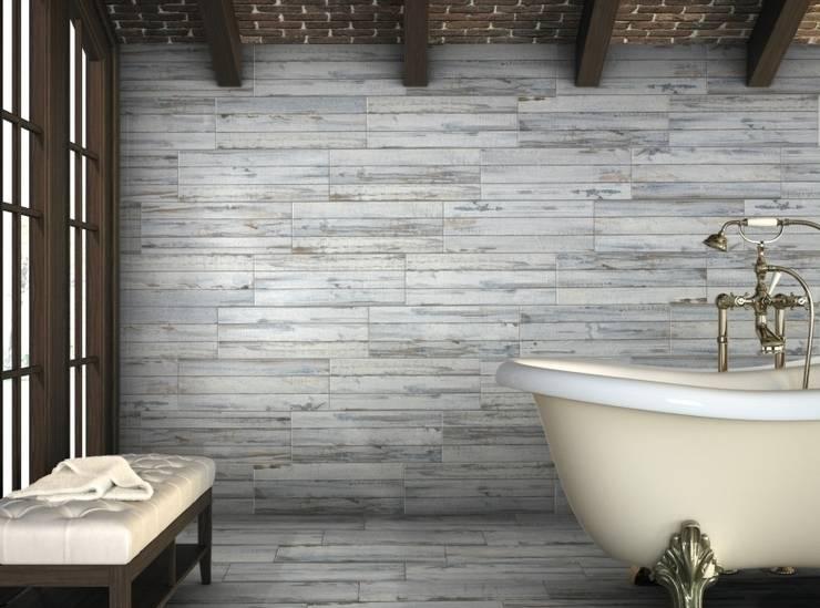 Decapé Gres imitación a madera: Baños de estilo  de INTERAZULEJO