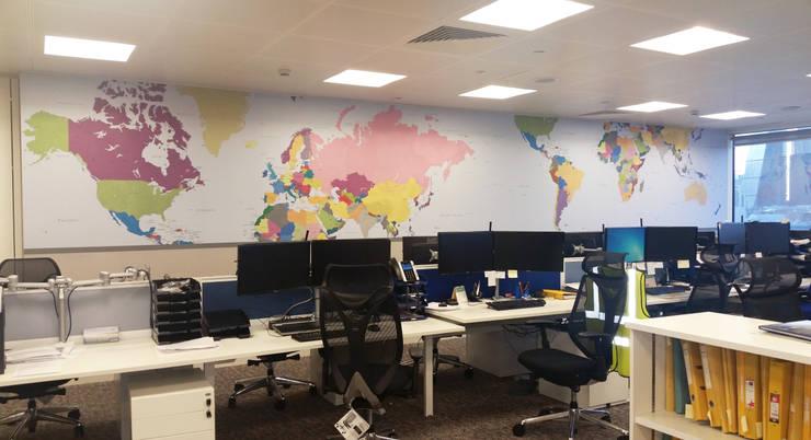 Vibrant World Map:  Walls & flooring by Wallpapered