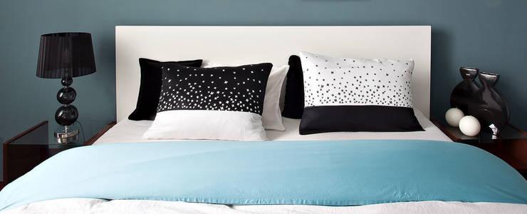 FOLK- poduszki z lnu: styl , w kategorii Sypialnia zaprojektowany przez MAQUDESIGN