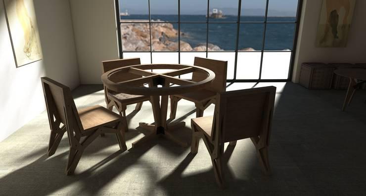 Stół RIM: styl , w kategorii  zaprojektowany przez ROARHIDE Industrial designs,Industrialny