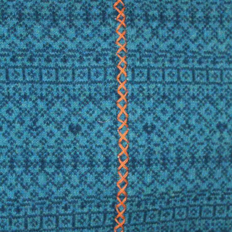 Scandinavian Be Bold—100% Lambs wool Cushion & Throw:  Household by Suzie Lee Knitwear