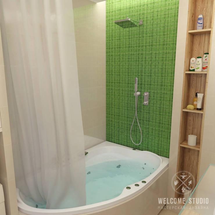 Ванная ракурс 3: Ванные комнаты в . Автор – Мастерская дизайна Welcome Studio, Минимализм