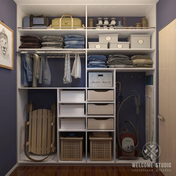 غرفة الملابس تنفيذ Мастерская дизайна Welcome Studio