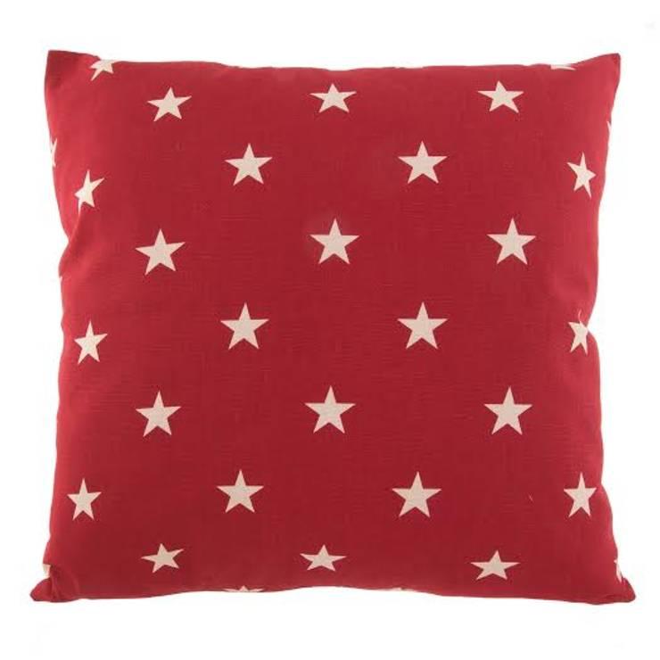 Poduszka Stjärna röd: styl , w kategorii  zaprojektowany przez Lilla Sky ,Śródziemnomorski
