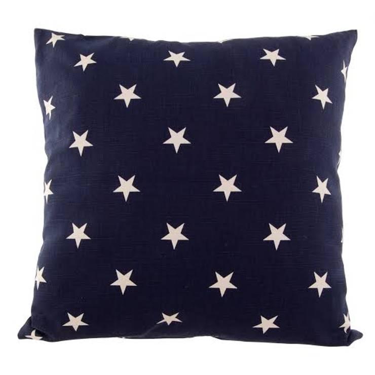 Poduszka Stjärna marinblå: styl , w kategorii  zaprojektowany przez Lilla Sky ,Śródziemnomorski