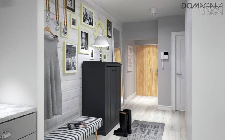 Hall: styl , w kategorii Korytarz, przedpokój zaprojektowany przez DOMagała Design