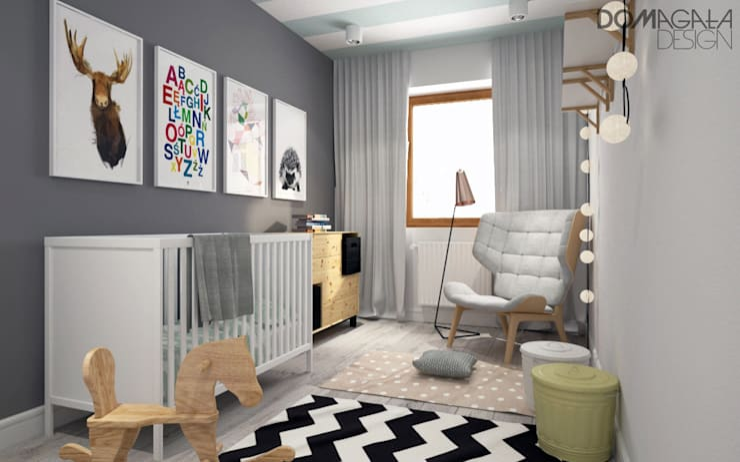 Quartos de criança escandinavos por DOMagała Design