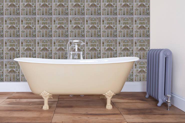 UKAA's Berwick Cast Iron Bath:  Bathroom by UK Architectural Antiques