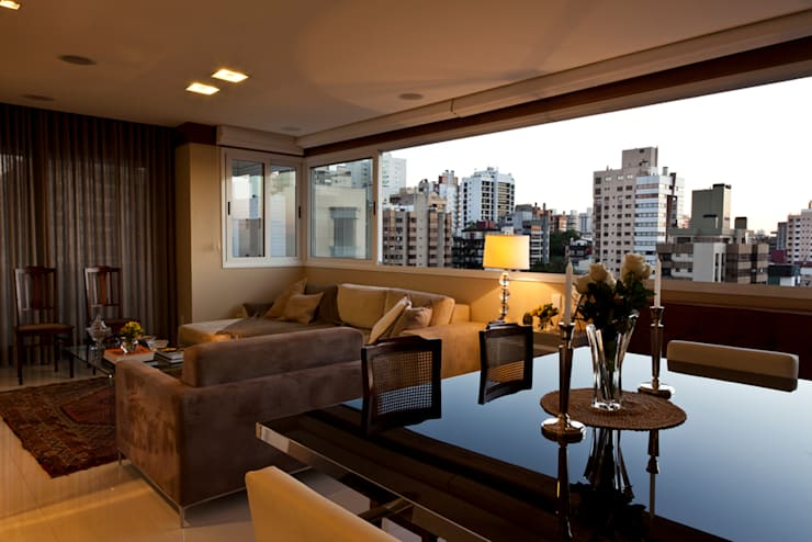 Apartamento Tito Livio: Salas de jantar  por Mariana M Simoes arquitetura conceitual