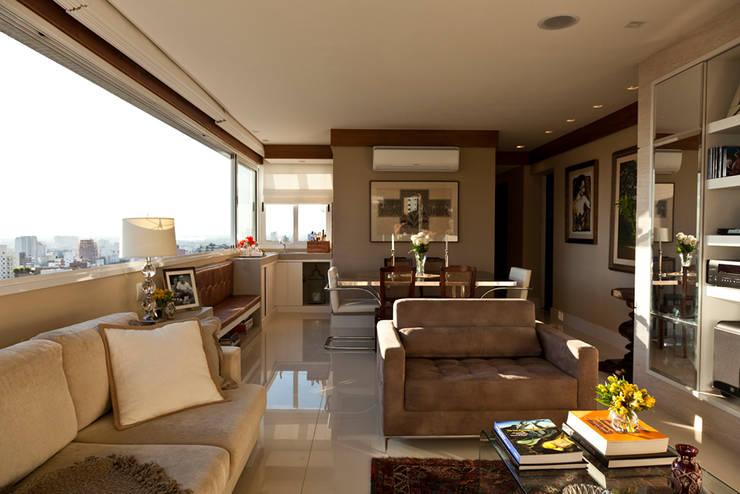 Apartamento Tito Livio: Salas de estar modernas por Mariana M Simoes arquitetura conceitual